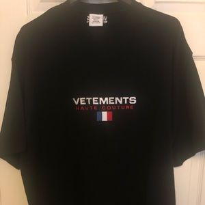 Vetements Haute Couture France Flag Tee Shirt